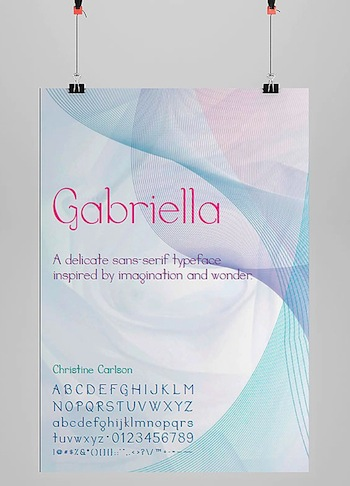 Gabriella Display Font Poster