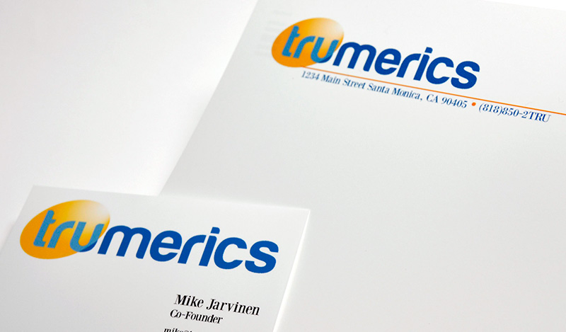 Trumerics Letterhead & Business Card